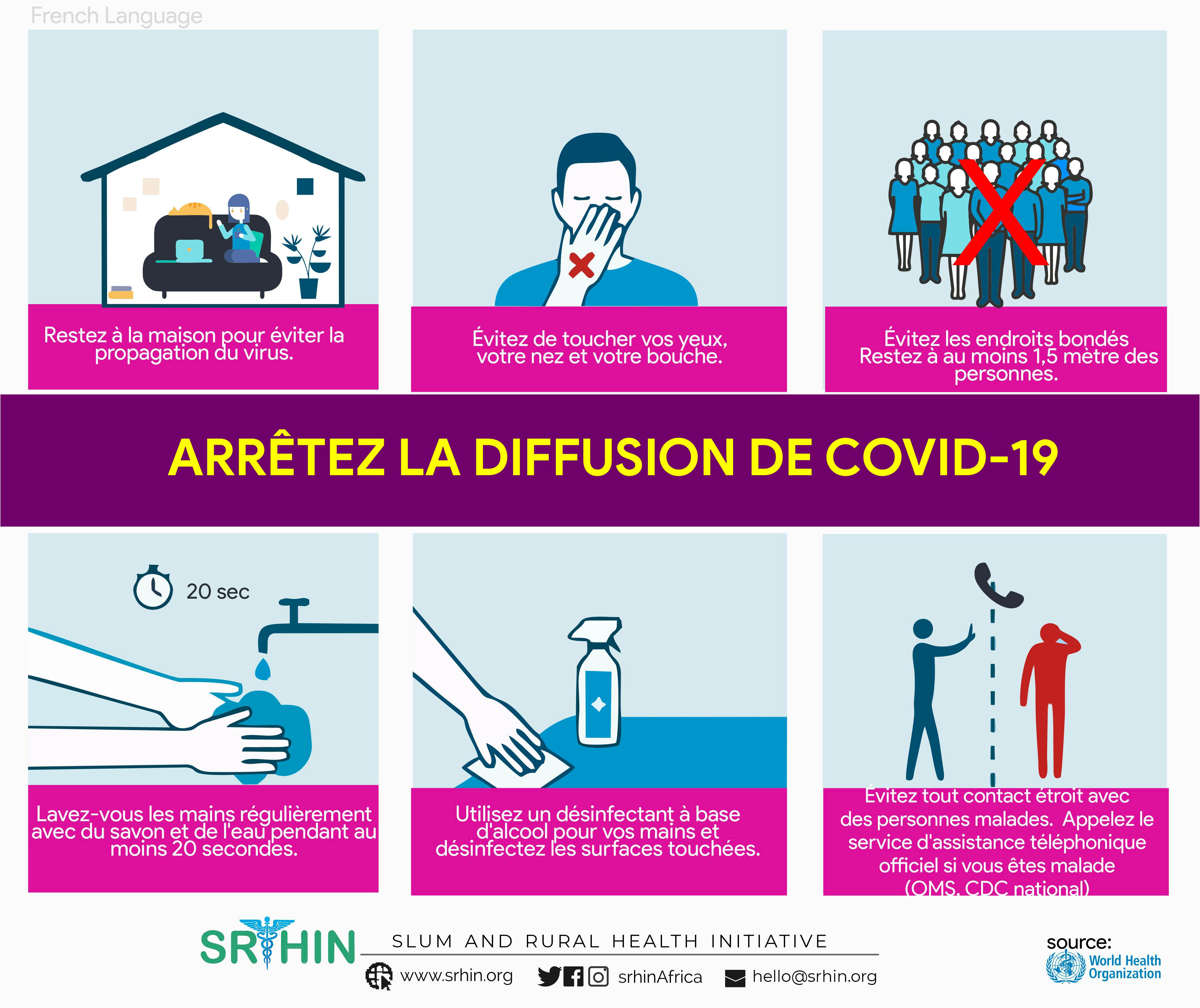Arrêter le Covid-19 en 19 langues