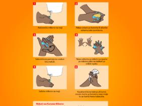 Handwashing Poster Swahili