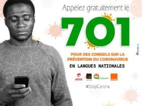 Service 701 Niger: des messages vocaux de prévention du Covid19 dans cinq langues locales du Niger