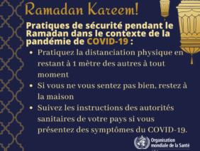 Ramadan Kareem! Rappel sur les pratiques de sécurité