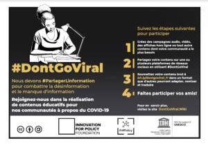 #DontGoViral: L'UNESCO et i4Policy lancent une campagne pour produire du contenu local pour lutter contre l'infodémie en Afrique