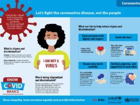 Let's fight the coronavirus disease, not the people
