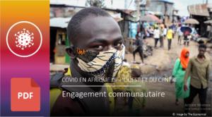 Engagement communautaire en Afrique de l'ouest et du centre, une présentation des cas pratique par le groupe régional.
