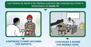 Continuez à fréquenter les centres de santé : des mesures adéquates sont prises pour vous recevoir en toute sécurité