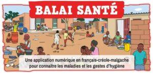 Balai Santé : Un jeu en français-créole-malgache pour connaître les maladies et les gestes d'hygiène.