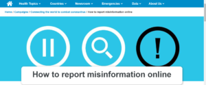 COVID-19: Protect yourself and others by reporting misinformation.