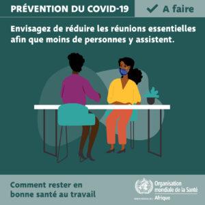 COVID-19: comment se protéger au travail!