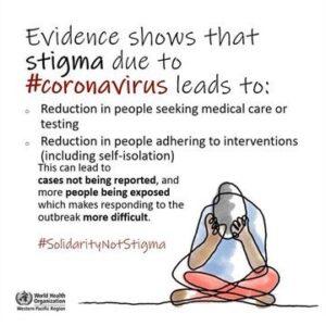 COVID-19: We need solidarity, not Stigma!
